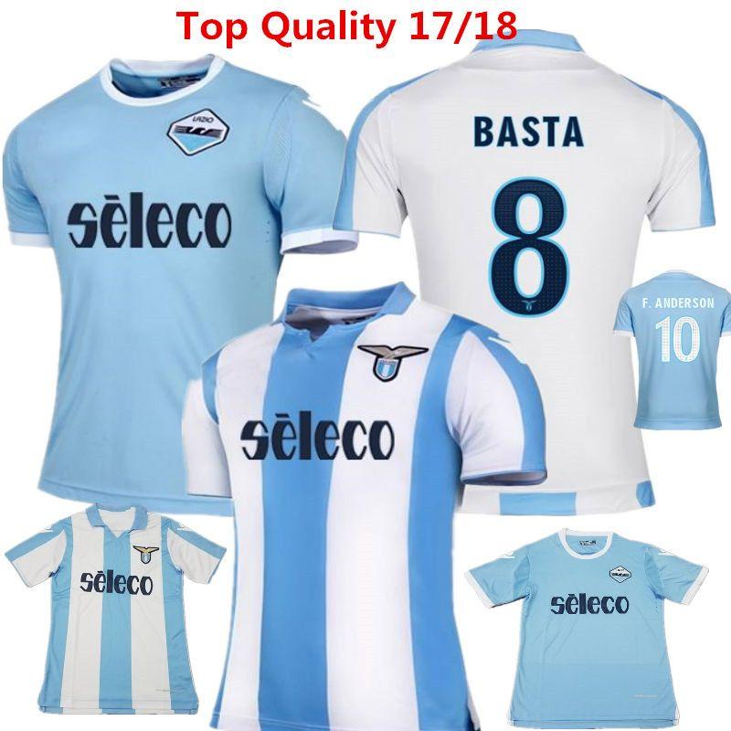 06b1a90ebc4 ... Miroslav Klose Soccer Jersey Lazio Calcio Maglia Away Black 17 18  Candreva Balde Keita Basta Lazio 2016 Germany ...