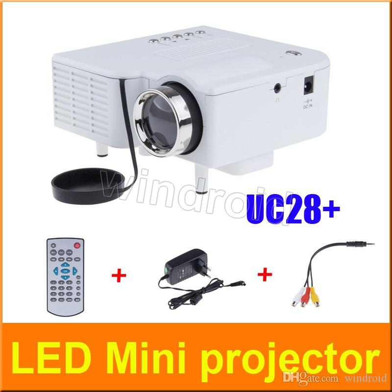 Uc28 projector mini led portable theater video projector for Pocket digital projector