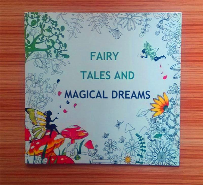 2016 hottest 185185cm adult coloring books an inky treasure hunt fairy tales and magical dreams 2525cm 24 pages drawing books secret garden an inky