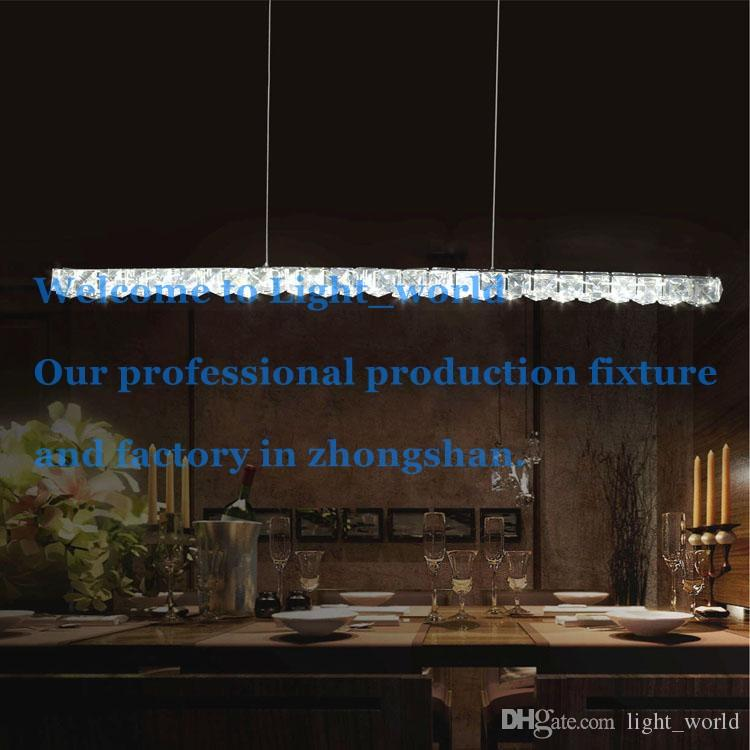 Modern Led Crystal Pendant Amps Lights Lighting 18w Length