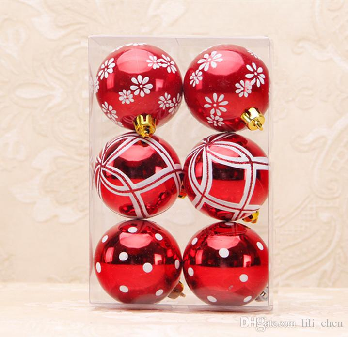 Pack Christmas Decorations For Home 6cm 2016 Christmas