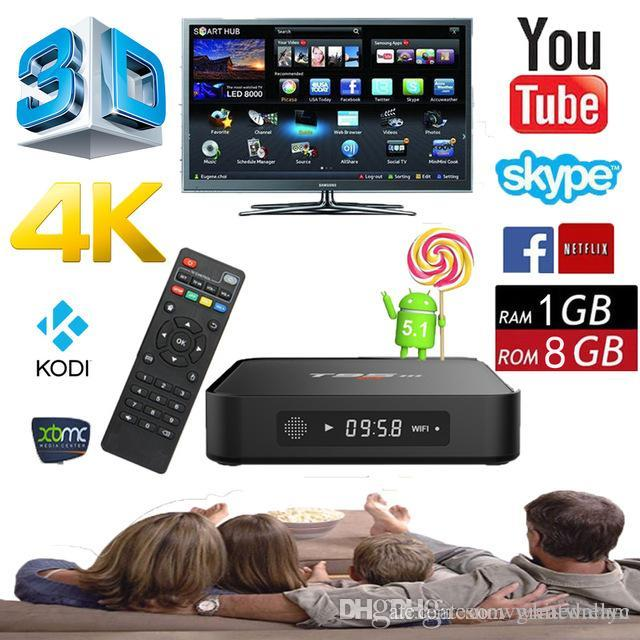4K Smart TV Box T95m Kodi 16,0 android tv box Amlogic S905 2.4GHz WIFI Android 5