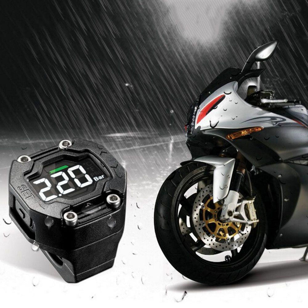 Steelmate DIY TP-90 TPMS for Motorcycle Tire Pressure Monitoring System with Waterproof External Sensor Wireless LCD Display K2597