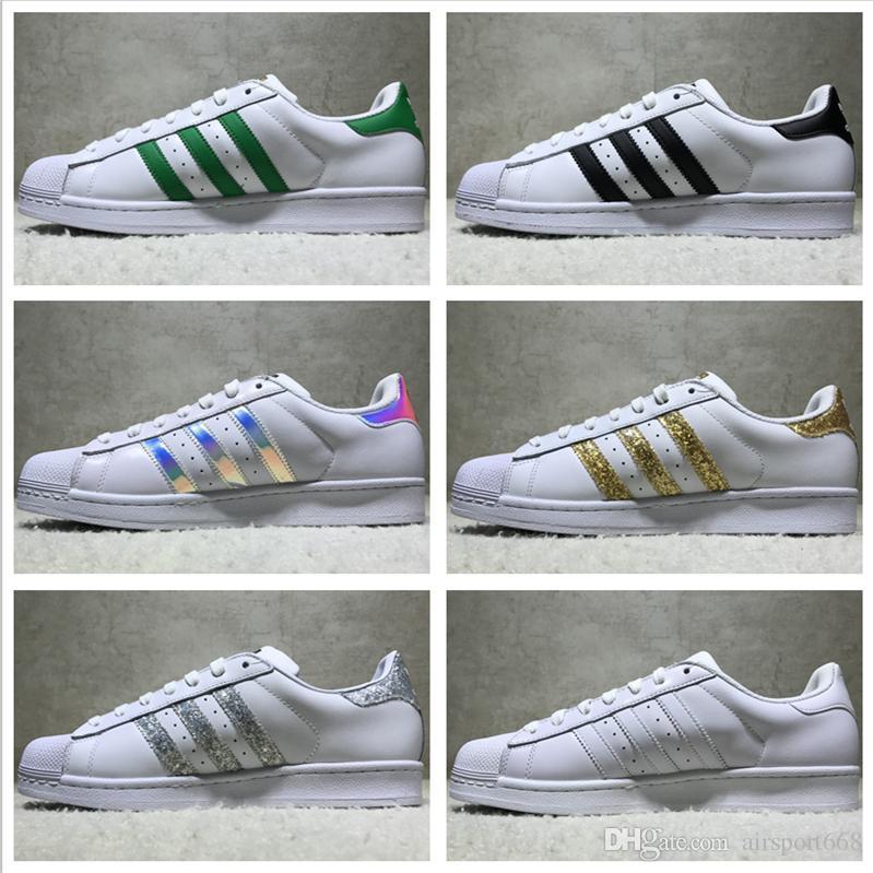 Adidas Originals Superstar White Hologram Iridescent Junior Superstars  Sneakers Super Star Women Men Sport Running Shoes EUR36-45 Basketball Shoes  Running ...