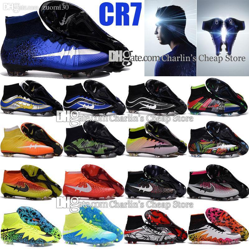 Charlin's Cheap 2016 Newest Original Outdoor Mercurial Superfly CR7 FG Soccer Cleats Magista Obra Football Boots Hypervenom II Soccer Shoes