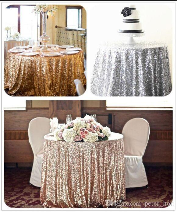 2017 Buy From China 6ft Gold Round Sequin Fabric Table ...