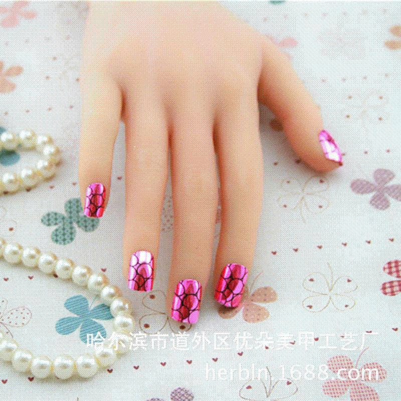 Purple stone salon lady finger false nail perfect manicure for 33 fingers salon reviews