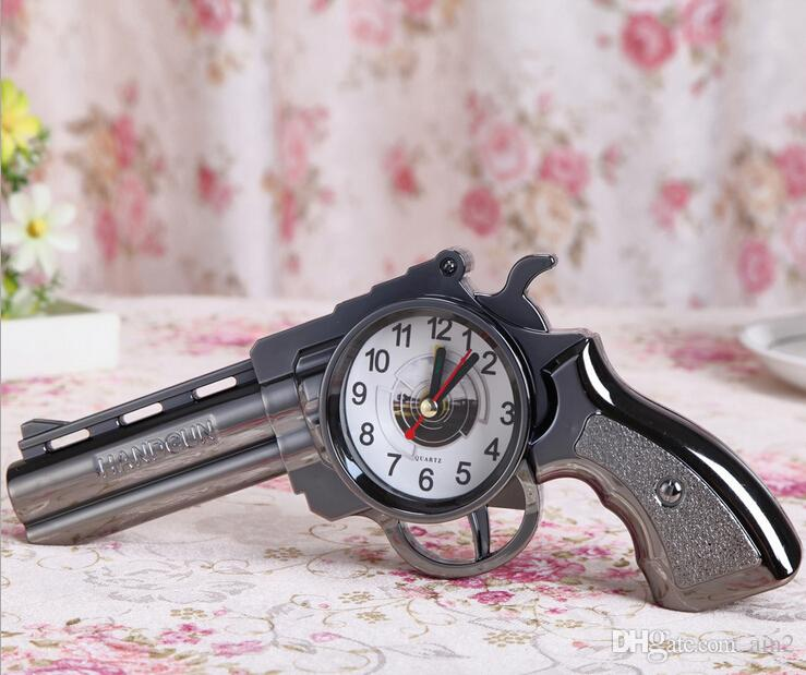2017 Cool Classic Gun Clock Kids Alarm Clock Desk Clock