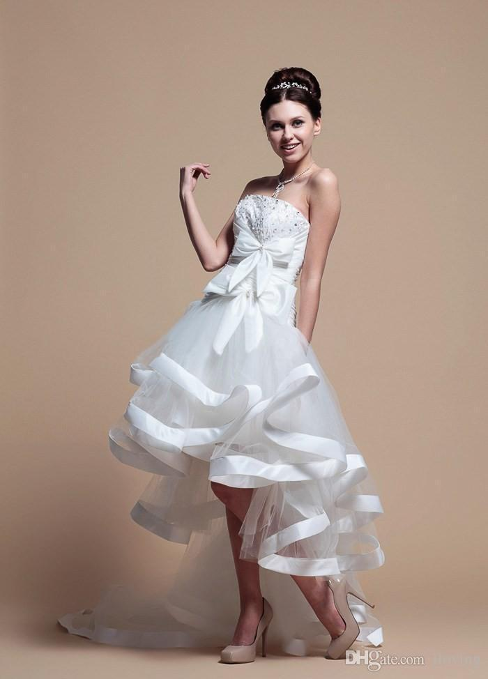 Discount bm 2015 hi lo wedding dresses hot sales short for High low wedding dresses for sale