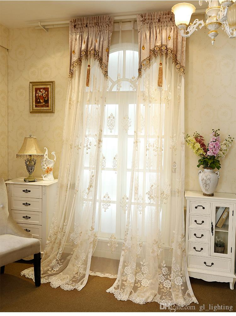 2017Hot Lace Sheer Curtains Creative Turkey Embroidered Europe America Popular Bedroom Living Room Decor