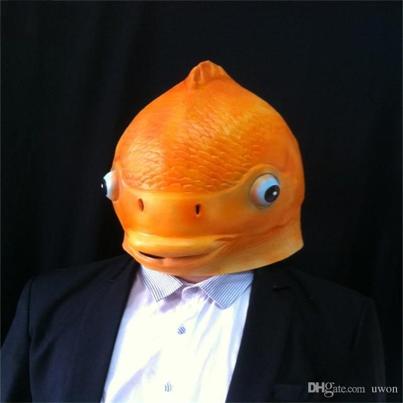 Halloween mask masquerade for adult fashion funny fish for Fish head mask
