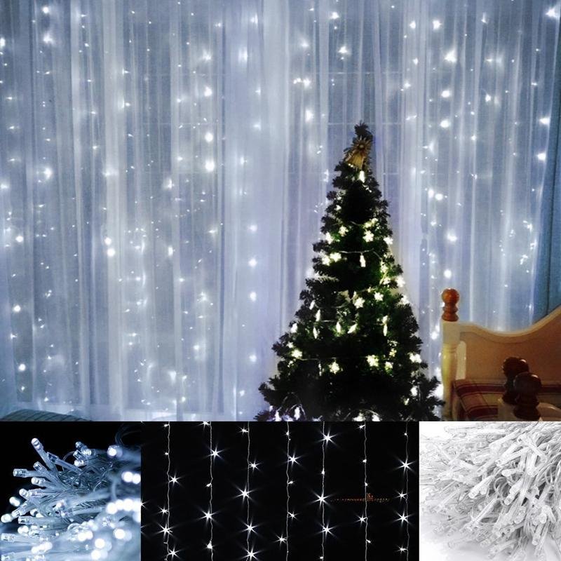 2016 hot sell 6m 3m 600 led window lights curtain icicle. Black Bedroom Furniture Sets. Home Design Ideas