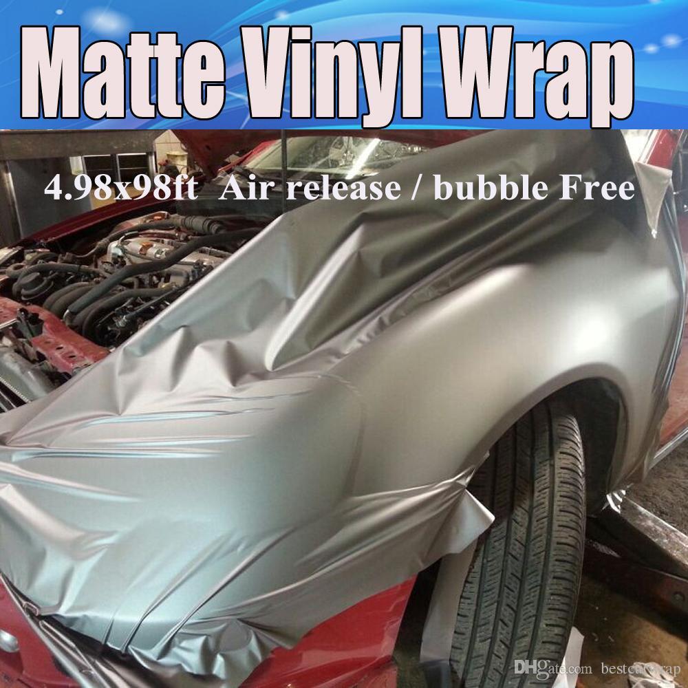 Gunmetal grey matte vinyl wrap anthracite with air bubble free dark gray metallic matt film vehicle wrapping size 1 52x30m roll 5x98ft grey brushed aluminum