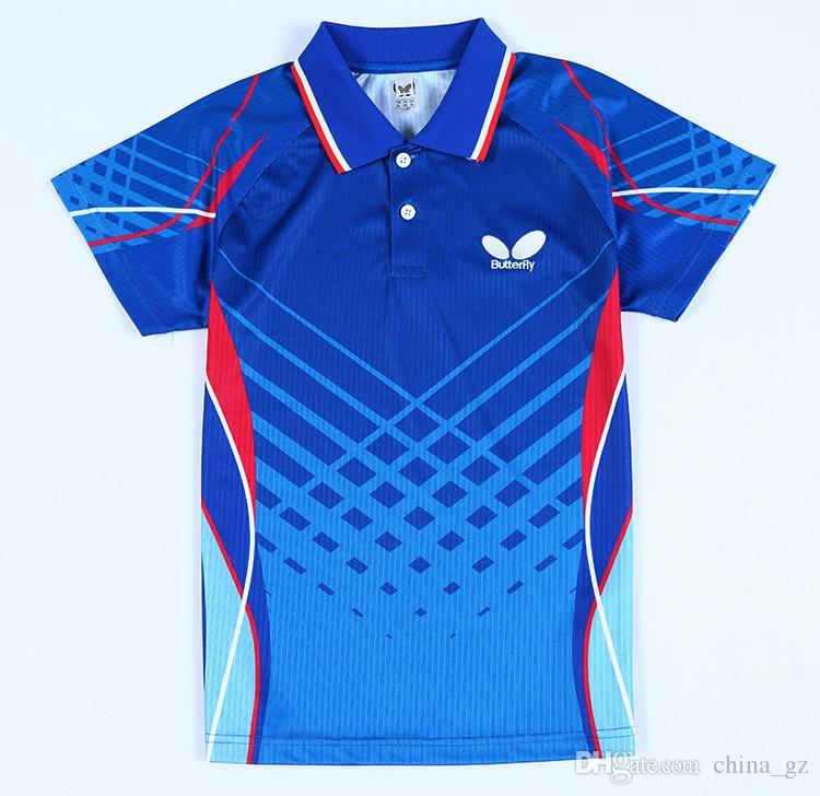 Best new butterfly table tennis shirts jerseys men 39 s for Table tennis shirts butterfly