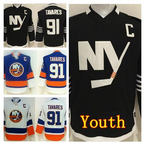 Youth John Tavares Jersey 91 Kids New York Islanders Ice Hockey Jerseys Children Home Blue Alternate