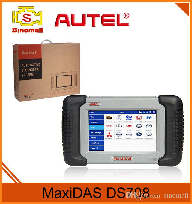 Original Autel MaxiDAS DS708 Scan Tool Automotive Diagnostic System Auto Scanner DS 708 Support US,EU,Asian Cars