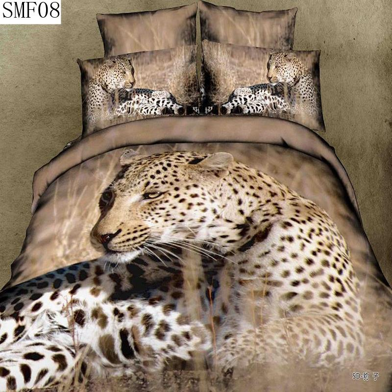 The queen size panda tiger leopard type 3 d series bedding - Chat type leopard ...