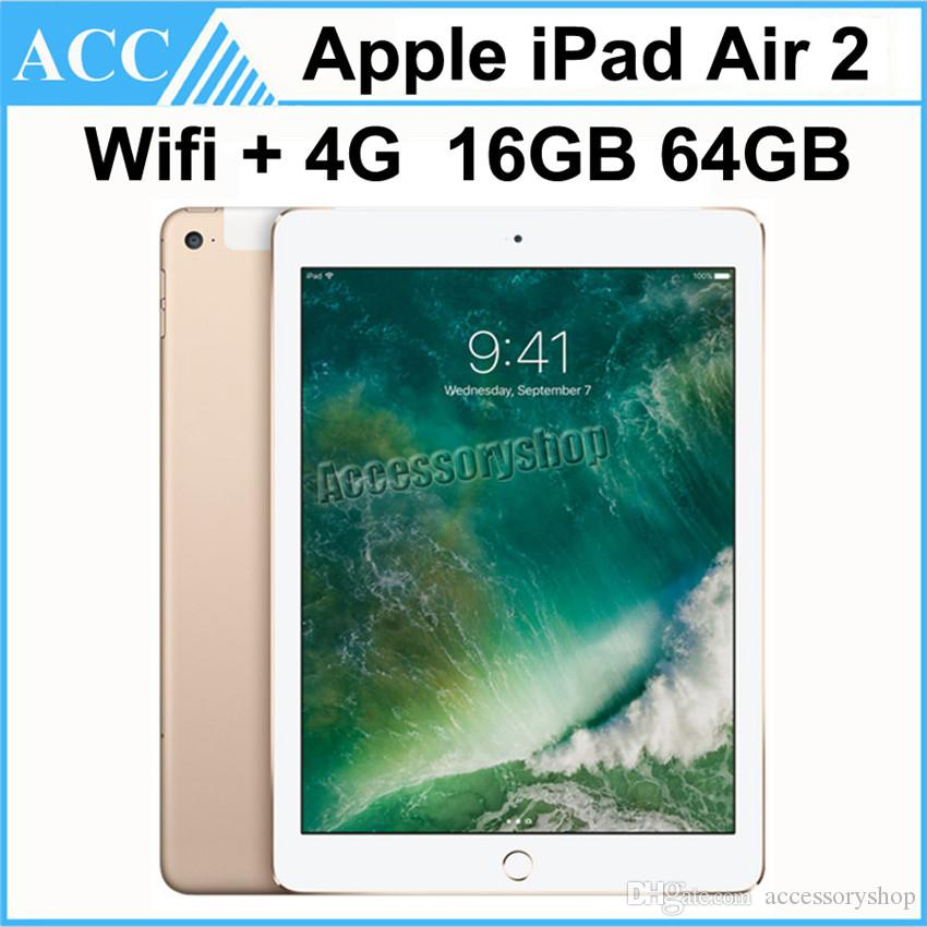 Réformé IPADE Air 2 iPad6 Wifi + 4G Cellular 9,7 pouces 16Go 64Go A8X Chip Or Ar