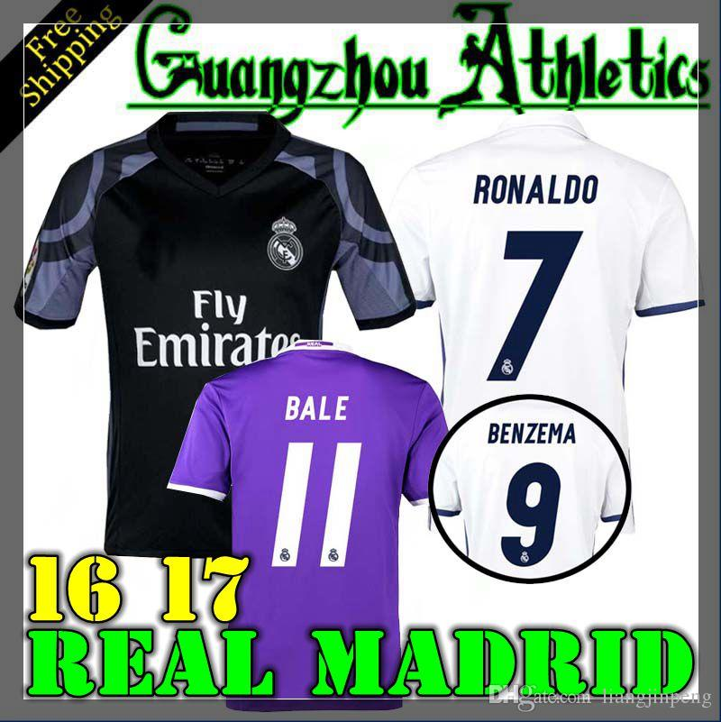 2016 La maison du Real Madrid en 2016 Away 3RD jerseys 16 17 La chemise du Real