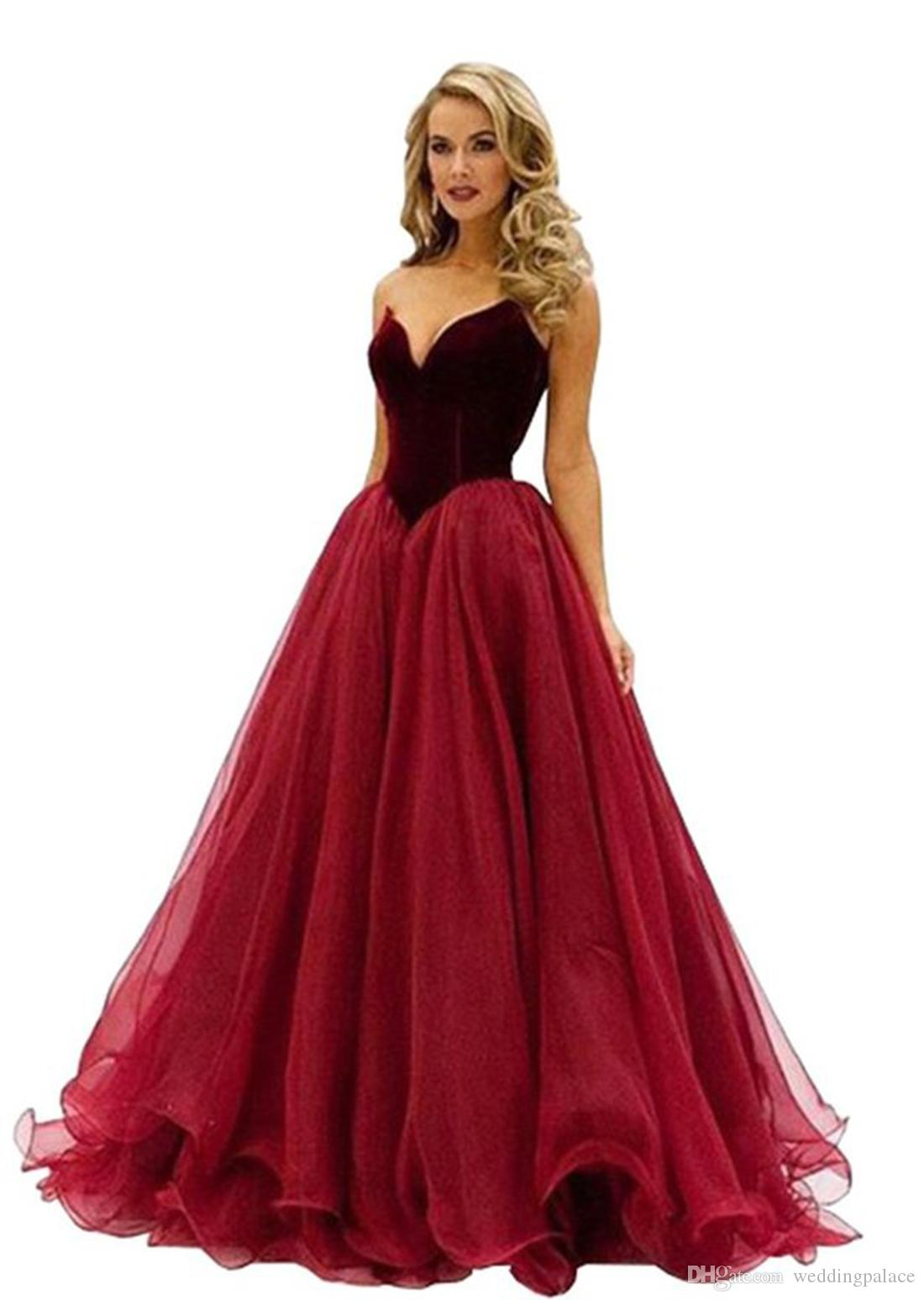 Color change online - 2016 Sweetheart Quinceanera Dresses Wine Red Velvet Top Color Can Not Change Tulle A Line Floor Length Evening Party Prom Dresses Gown