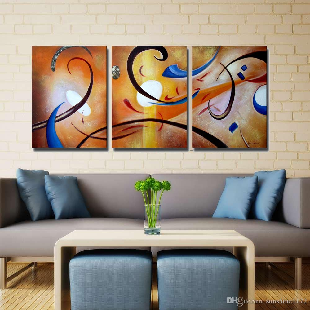 2016 Wall Decor Black Friday Sale 3 Panels 100 Hand Paint