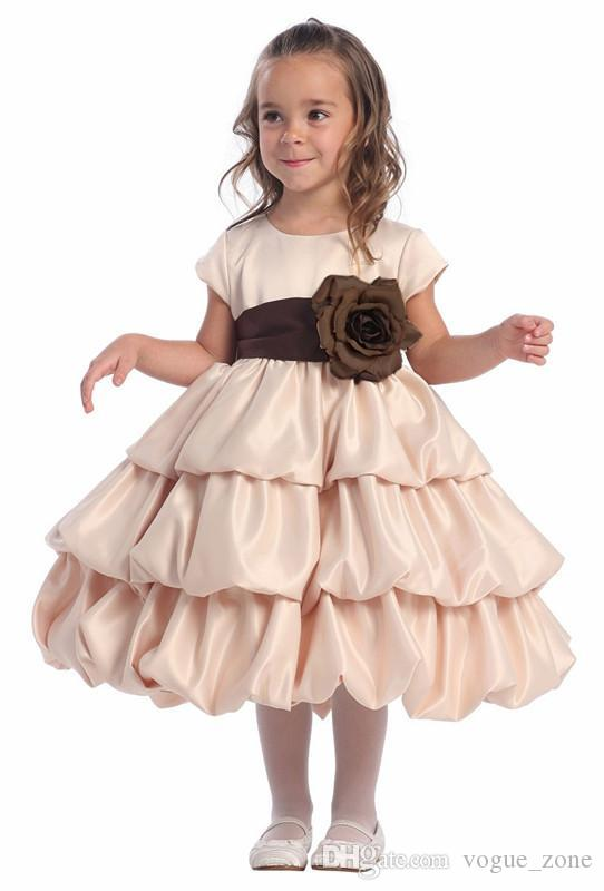 Y Neck Flower Girl Dresses 69