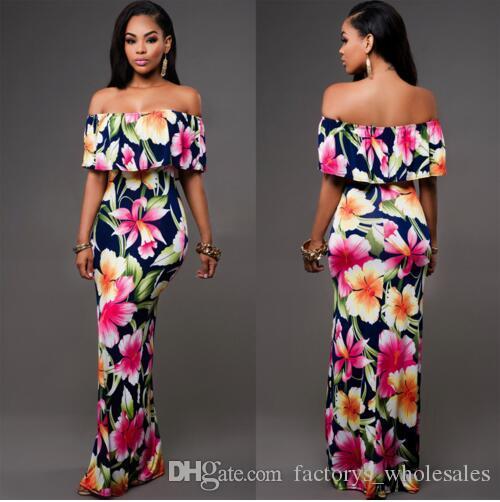 Summer print maxi dresses