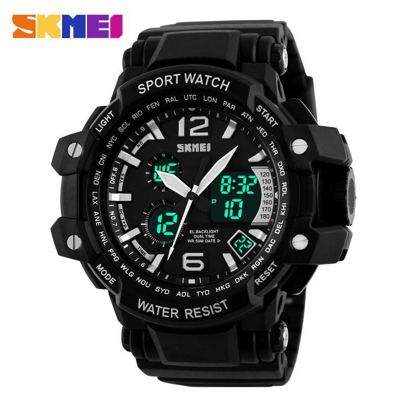 2016 new men outdoor watch sports wristwatch dual time led analog 2016 new men outdoor watch sports wristwatch dual time led analog clock quartz digital watch