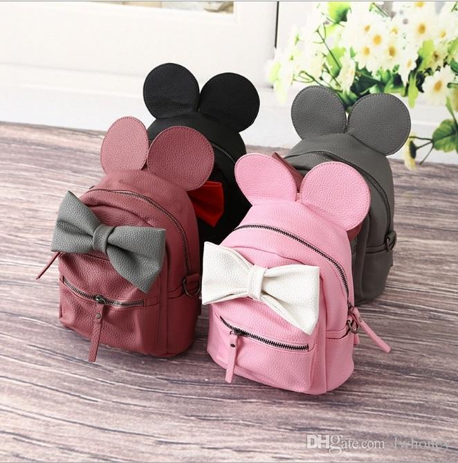 Girls Backpack 2016 New Korean Cute Cartoon Mickey Design Backpack ...