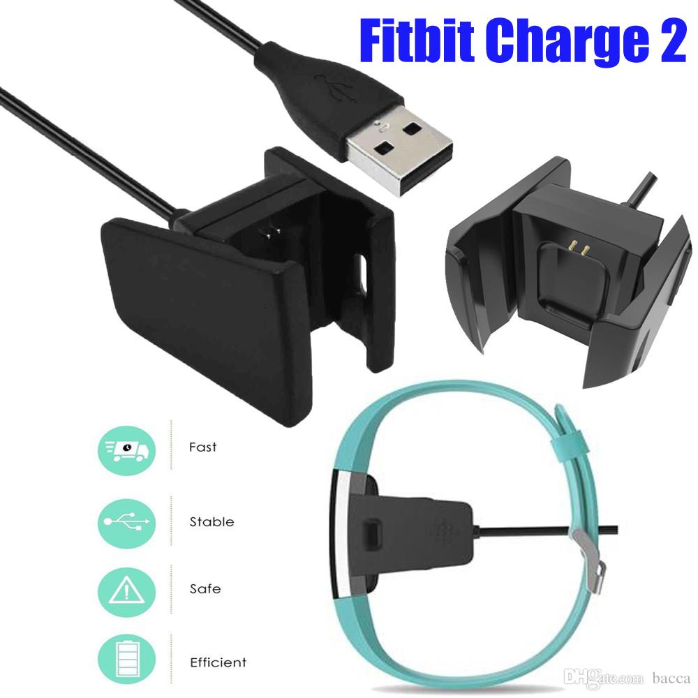 2017 black cable for fitbit charge 2 unique usb clip. Black Bedroom Furniture Sets. Home Design Ideas