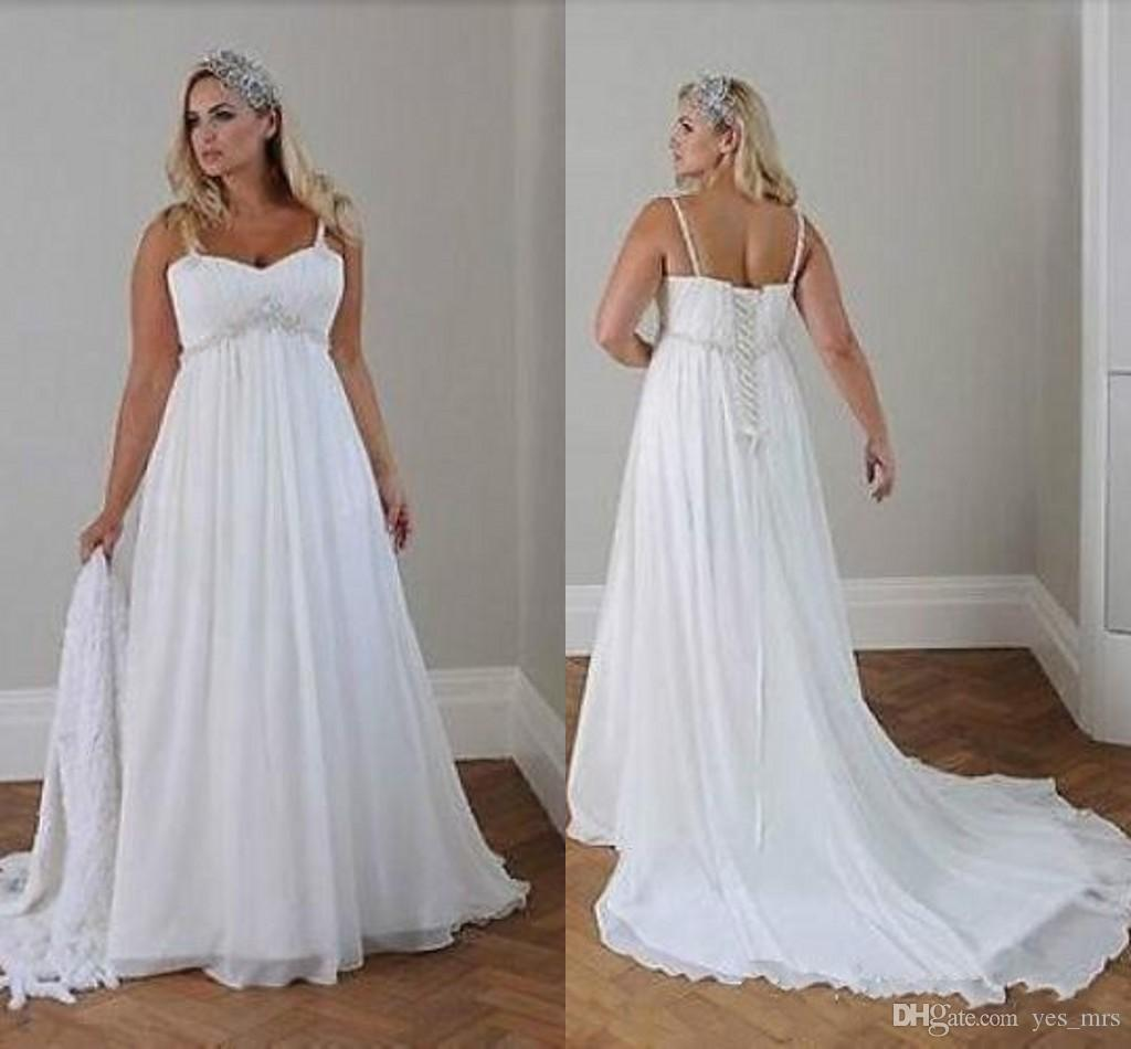 2016 cheap wedding dresses a line spaghetti straps lace for Cheap summer wedding dresses