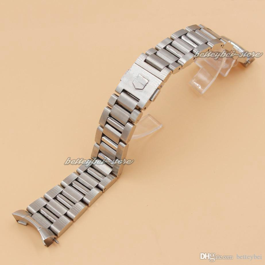 22mm Stainless Steel Watch Bands Strap Silver Mens Luxury Bracelet  Replacement Wrist Watchband For Tag 24mm Watch Band Silicone Watch Bands  From Betteybei,