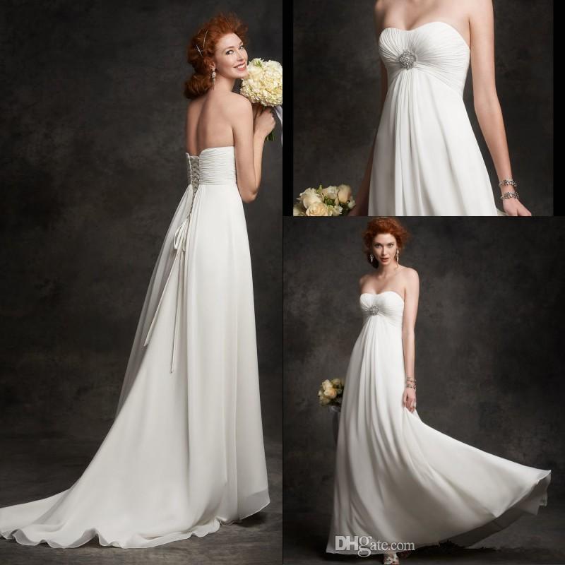 Simple strapless chiffon maternity wedding dresses plus for Plus size maternity wedding dresses cheap