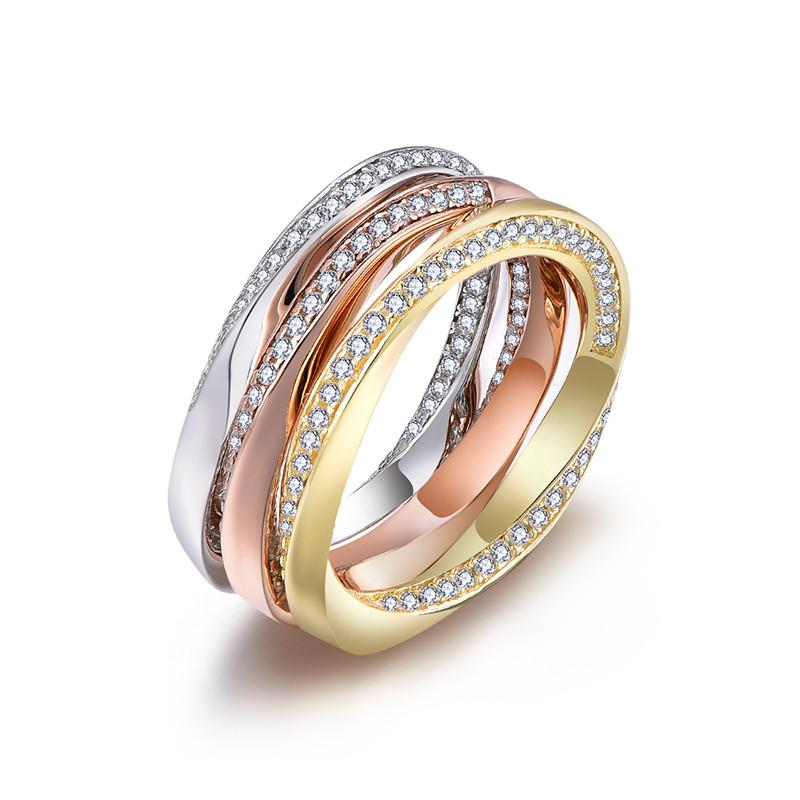 wholesale price 925 sterling silver ring set for