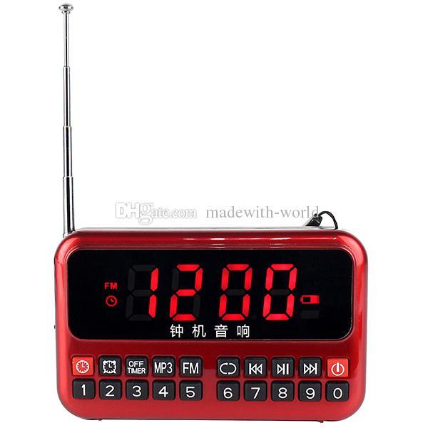digital fm radio mp3 player usb speaker clock alarm with 18650 battery y4177 digital radio. Black Bedroom Furniture Sets. Home Design Ideas