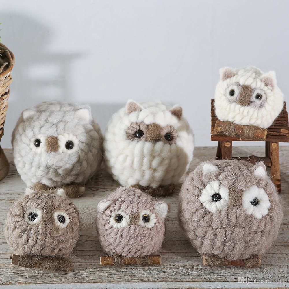 Wool felt ornaments - Wool Fabric Ornaments Handmade Home Accessories Doll Wool Felt Crafts Creative Gifts