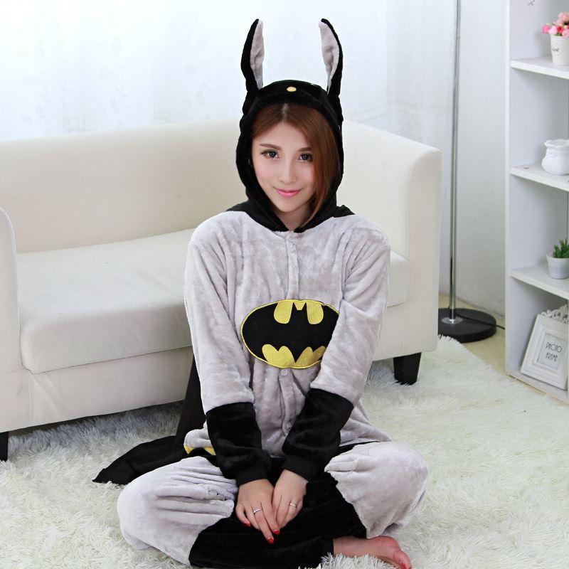 2017 Batman Flannel Pajamas Batman Pijama Adult Minion Pajamas ...