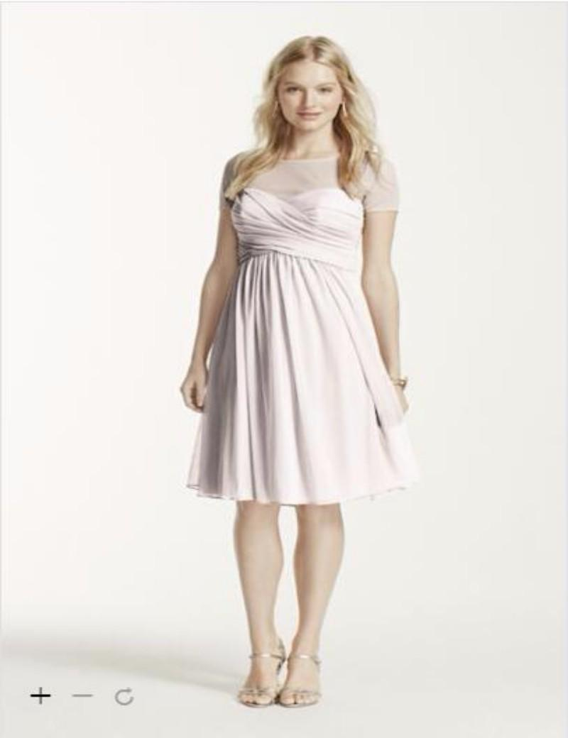 2016 plus size bridesmaid dresses features pleated sweetheart 2016 plus size bridesmaid dresses features pleated sweetheart illusion neckline with short sleeves and chiffon skirt f15911 gown bridesmad dresses custom ombrellifo Images
