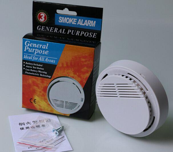 new smoke detector alarms system sensor fire alarm detached wireless detectors home security. Black Bedroom Furniture Sets. Home Design Ideas