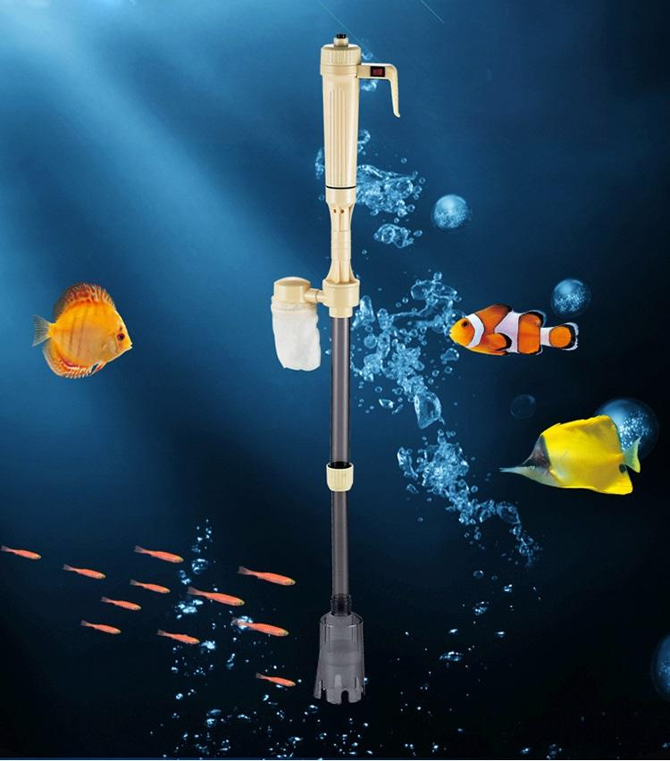 2017 new aquarium battery syphon operated fish tank vacuum for Fish tank syphon