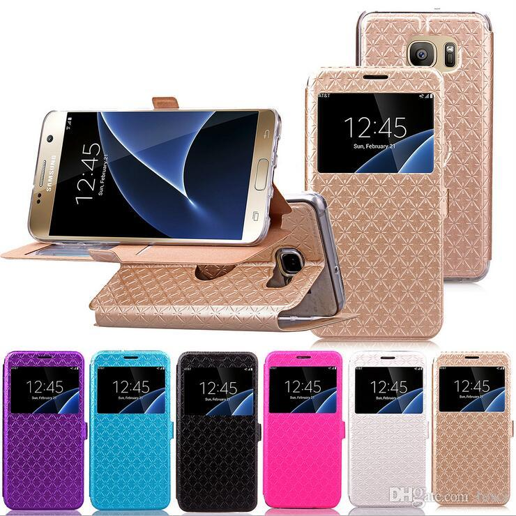 Cool Samsung Galaxy S7 Edge Case Luxury Flip Stand Wallet