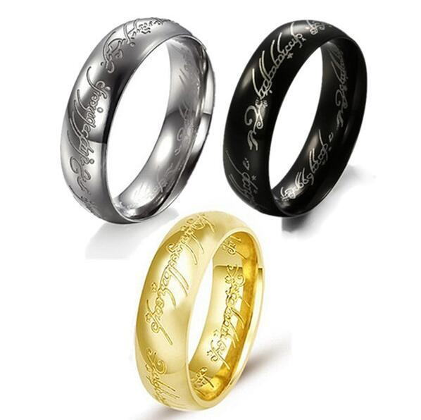 lord of the rings the one ring bilbos hobbit ring 18k gold pure tungsten - The One Ring Wedding Band
