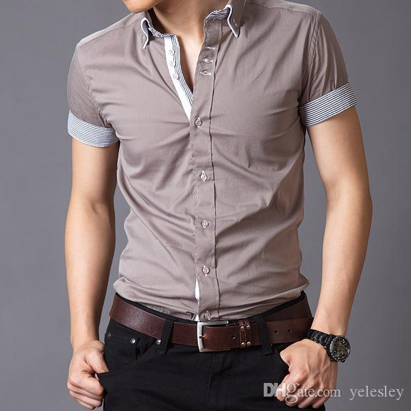 2017 men shirt casual shirt mens dress shirts polo mens for Men s down shirt