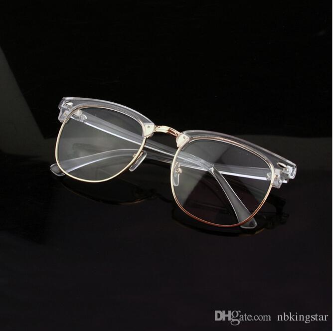 new brand retro clear glasses frame transparent optical