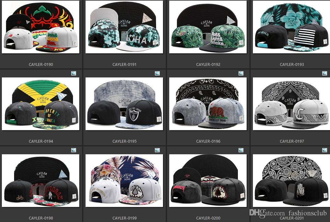 Hot Selling Cayler Sons Snapbacks Hip Hop Caps Tous les styles de Teams 2000 Pou