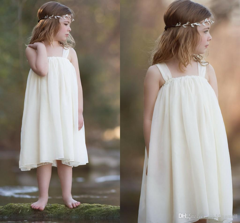 Cheap Chiffon 2016 Flower Girl Dresses A line Baby Girl Birthday Party Christ