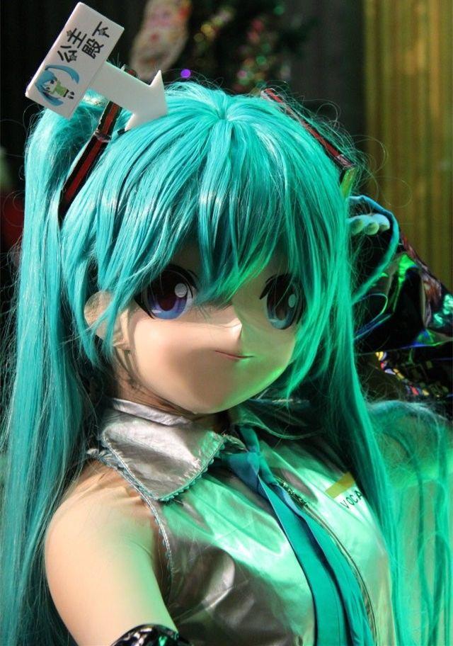 2016 unique handmade kig latex female face japanese anime mask cosplay kigurumi doll