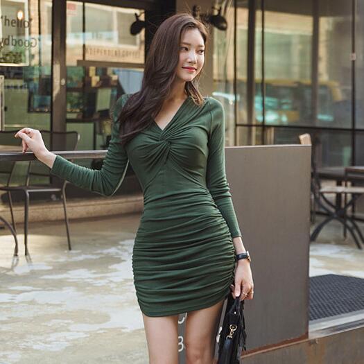 2016 Autumn Korean Women's Fashion Sexy V-neck Long-sleeve ...