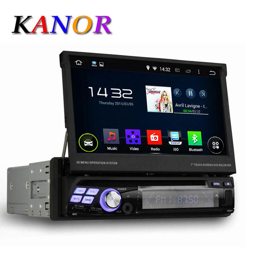 quad core android 5 1 1 single 1 din 7 universal car dvd player with gps navigation autoradio. Black Bedroom Furniture Sets. Home Design Ideas
