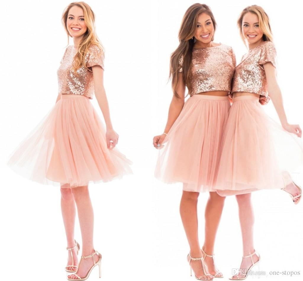 Quinceaneara Dresses for Juniors Pink Gold